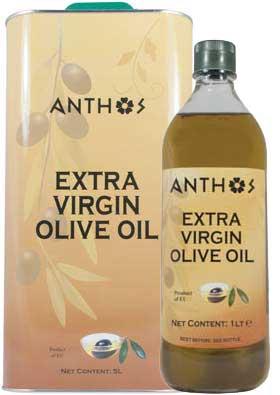 ANTHOS EXTRA VIRGIN OLIVE OIL 3L,1x4x3L, 5L, 1x4x5L, 1L, 1x12x1L